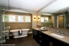 Contemporary Bathroom Design, Pictures, Remodel, Decor and Ideas - page 25 Decor, Parade Of Homes, Home, Bathroom Inspiration, Bathroom Decor, Bathrooms Remodel, Beautiful Bathrooms, Bathroom Design, Contemporary Bathroom