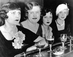 Transvestites at the El Dorado, a well known gay hang-out, Motzstrasse, Berlin. 1929.