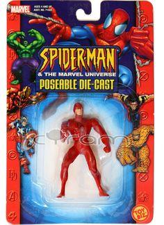 DAREDEVIL poseable Die-Cast Actionfigur aus der Spider-Man & the Marvel Universe Figurenserie von Toybiz | (http://www.cyram-entertainment.de/shop/products/Figuren-Statuen/Marvel/Spider-Man-The-Marvel-Universe/DAREDEVIL-poseable-Die-Cast.html) #daredevil #mattmurdock #hellskitchen #diecast #actionfigur #cyramentertainment