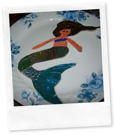 Mermaid craft.  These cute mermaids were easy to make and lots of fun.