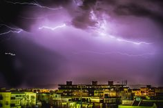 Lightning in Palermo, italy