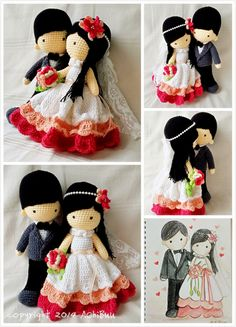 AChiBuu Handmade: Customize Wedding Couple Doll