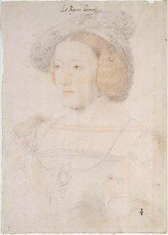 Eleonore d'Autriche, femme de François Ier (1498-1558), reine de France Clouet Jean (1475/1485-1540) Le portraitiste français a représenté la reine à son arrivée en France. Elle est encore habillée de la mode de son pays.
