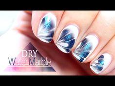 Nail art , Water marble // Debutant , YouTube