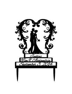 Custom Acrylic Wedding Cake Topper by LiveLoveDesigns7 on Etsy