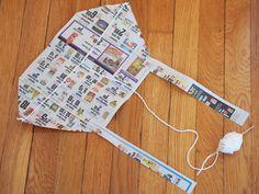 Make a Newspaper Kite and Plastic Bag Kite