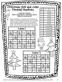 No Prep math game from Christmas Math Games Fourth Grade by Games 4 Learning. This collection of Christmas math games contains 14 printable games $