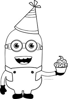 Party Minions Coloring Page Disney Coloring Sheets, Coloring Sheets For Kids, Adult Coloring, Minion Coloring Pages, Cat Coloring Page, Coloring Books, Paper Quilling Designs, Pencil Art Drawings, Printable Coloring