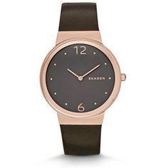 Skagen Freja Leather Watch