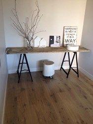 Stalen frame bureau FAY met steigerhouten planken