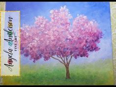 How to Paint Red Oak Tree Fall Landscape | Full Length Live Acrylic Painting Tutorial | Free Lesson - YouTube