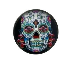 S-1119 Sugar Skull Snap 20mm for Ginger Snap-Noosa Snap-Chunk Snap Charm Jewelry by SimpleEleganceCole on Etsy