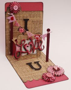 The Dining Room Drawers: Sizzix Pop 'n Cuts 'I Love U' card