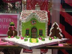 Lilly Pulitzer Gingerbread house!
