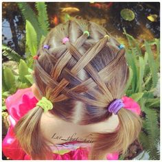 Criss cross braids Cute hair style for a little girl