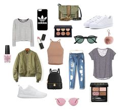 """""""Untitled #12"""" by sagajulias on Polyvore featuring MANGO, NLY Trend, NIKE, adidas, L'Autre Chose, Michael Kors, Oliver Peoples, Ray-Ban, Fendi and Gucci"""