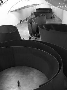 "Spain, Bilbao 2012 Guggenheim, Richard Serra ""The Matter of Time"""