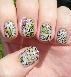 StephsNails: Cute Cartoon Floral Nail Art