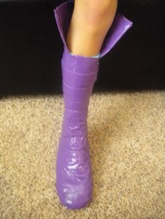 Tutorial: Duct Tape Boots for Musketeers | 101 Duct Tape Crafts