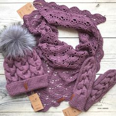 Knit Beanie, Beanie Hats, Mitten Gloves, Mittens, Free Crochet, Knit Crochet, Long Knit Cardigan, Hat And Scarf Sets, Knitting Accessories