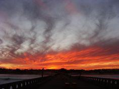 Céu de fogo - Praia de Cidreira - RS