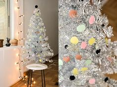 dotted Christmas tree via wherethelovelythingsare blog