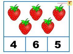 Învățăm să numărăm - Fructe - Logorici Strawberry, Strawberry Fruit, Strawberries, Strawberry Plant