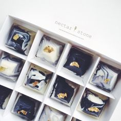 Nectar & Stone is a confectionery based in Melbourne, Australia and founded by Caroline Khoo. These chocolates, cupcakes and cookies celebrate femininity w Artisan Chocolate, Chocolate Art, Chocolate Shop, Chocolate Covered, Chocolate Company, Sweet Like Chocolate, Nectar And Stone, Chocolate Packaging, Handmade Chocolates