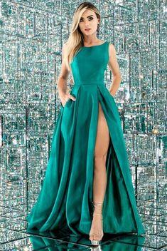 958d0eaa92 vestido longo verde com fenda  vestido  vestidodefesta  vestidolongo   vestidoparamadrinha  madrinhadecasamento  vestidoparaformanda   vestidoparaformatura ...