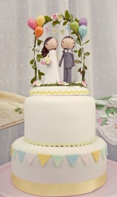 adorable custom made cake topper