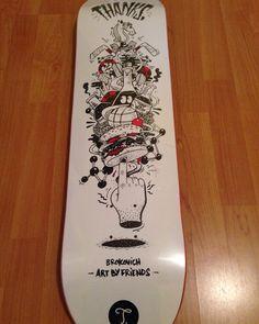 Skateboard design by brokovich art by friends