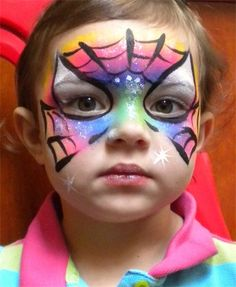 Spider Girl: Art by Jese face painting ideas for kids