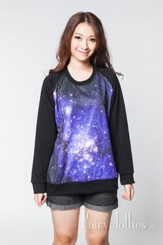 Galaxy Jumper Sweater Shooting Star Cosmic Light door PairyClothes
