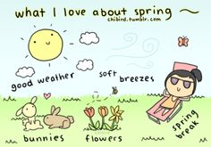 What I love about spring.