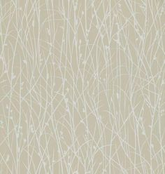 Grasses (110149) - Harlequin Wallpapers - An all over grass design in light subtle colours to compliment a room beautifully - showing in white on a creamy beige background. Other colour ways available. Please request a sample for true colour match. Paste-the-wall product. Wide Width.