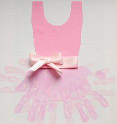 Ballerina Tutu Handprint Art- adorable for those little girls who love ballerinas!