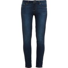 PAIGE DENIM Cropped Alanis Skinny Jeans ($320) ❤ liked on Polyvore featuring jeans, super skinny jeans, skinny fit jeans, mid rise skinny jeans, stretch blue jeans and stretchy jeans