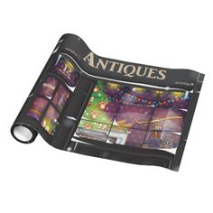 Antiques Store Gift Wrapping Paper