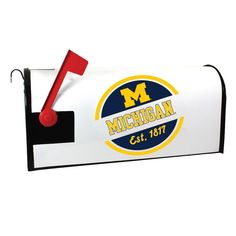 Michigan Wolverines Magnetic Mailbox Cover, Multicolor