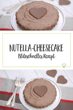 Eine leckere Valentinstags-Torte zaubern mit nur vier Zutaten – die himmlische Creme mit dem Crunchy-Boden verzaubert jeden! Verwöhnt eure Liebsten! Lecker!  #ELBCUISINE #Rezept #Cheesecake #Nutella #Valentinstag #schnell #einfach #lecker #gesund #sefmade #selbstgemacht #Torte Nutella, Creme, Cheesecake, Muffin, Cookies, Breakfast, Desserts, Food, Pie