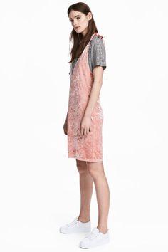 Платье из битого бархата - Розовый - Женщины | H&M RU 1