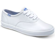 The Keds Original Champion sneaker, with clean, cool and classic style, works all year round. Find sizes now at Stride Rite. Champion Sneakers, Keds Champion, Keds Sneakers, Keds Shoes, Leather Keds, White Leather, Keds Kids, White Keds, Shoes For Leggings