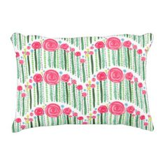 Scalloped Flower And Striped Pattern Accent Pillow - eye catching gifts gift ideas cyo custom birthday presents