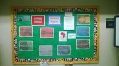 A social studies bulletin board.