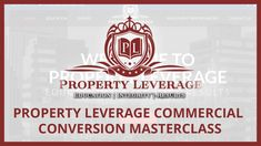 3 Day Commercial to Residential Conversion Course Property Investor, Online Earning, Master Class, Vip, Conversation, How To Become, Believe, Commercial, Knowledge