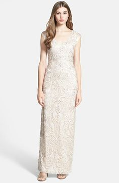Sue Wong Embellished Tulle Column Gown | Nordstrom