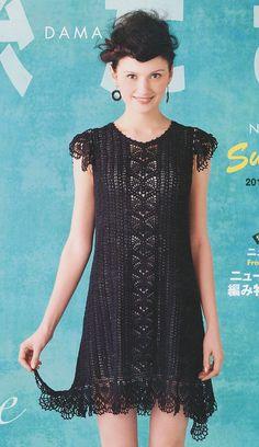 Keito Dama (Japanese knitting/crochet magazine) - 146 crochet shirt or dress (make shorter for shirt~Lee Ann H)