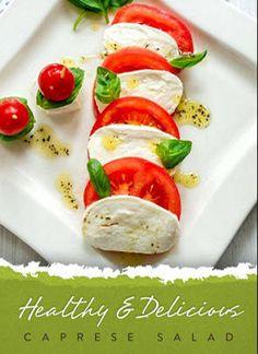 Caprese di Mozzarella di Bufala - a well-known Italian delicacy. Milk Recipes, Vegetarian Recipes, Healthy Recipes, Caprese Salat, Gourmet Bakery, Healthy Snacks, Healthy Eating, Good Food, Yummy Food
