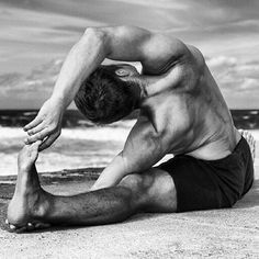 #yoga man dude beach. More inspiration at: http://www.valenciamindfulnessretreat.org