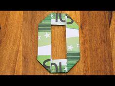 Zahl 0 falten mit Euroscheinen, Geldgeschenke Origami #10/10 - YouTube